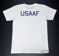 画像3: 極厚 スーパーヘビーウェイト Tシャツ ARMY AIRFORCE エアフォース ビンテージ / 白 ホワイト (3)
