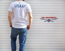 画像8: 極厚 スーパーヘビーウェイト Tシャツ ARMY AIRFORCE エアフォース ビンテージ / 白 ホワイト (8)