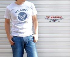画像7: 極厚 スーパーヘビーウェイト Tシャツ ARMY AIRFORCE エアフォース ビンテージ / 白 ホワイト (7)