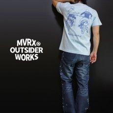 画像2: MVRX 半袖 Tシャツ DRIVE SAFE モデル / 水色 ライトブルー バイク プリント (2)