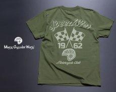 画像5: MVRX 半袖 Tシャツ SpeedSter モデル / アーミーグリーン バイクプリント (5)