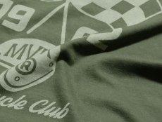 画像6: MVRX 半袖 Tシャツ SpeedSter モデル / アーミーグリーン バイクプリント (6)
