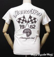画像11: MVRX 半袖 ヘンリーネックTシャツ SpeedSter モデル / 白 バイク 車 プリント (11)