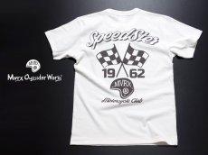 画像6: MVRX 半袖 ヘンリーネックTシャツ SpeedSter モデル / 白 バイク 車 プリント (6)
