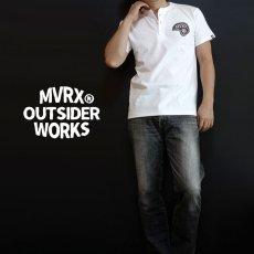 画像4: MVRX 半袖 ヘンリーネックTシャツ SpeedSter モデル / 白 バイク 車 プリント (4)