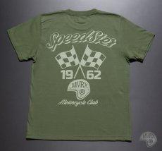 画像10: MVRX 半袖 Tシャツ SpeedSter モデル / アーミーグリーン バイクプリント (10)