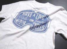 画像6: MVRX 半袖 Tシャツ  GOGGLE モデル / 白 ホワイト バイク ゴーグル プリント (6)