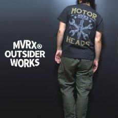 画像1: MVRX 半袖 Tシャツ MOTORHEADS モデル / スミ黒 ブラック バイク 車 プリント (1)