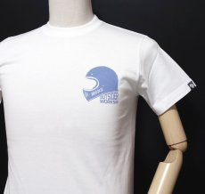 画像7: MVRX 半袖 Tシャツ  GOGGLE モデル / 白 ホワイト バイク ゴーグル プリント (7)