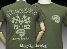 画像3: MVRX 半袖 Tシャツ SpeedSter モデル / アーミーグリーン バイクプリント (3)