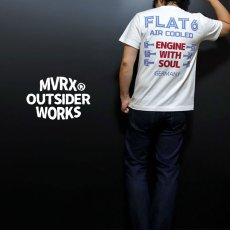 画像4: MVRX 半袖 Tシャツ FLAT6 モデル / 白 ホワイト 車 エンジン プリント (4)