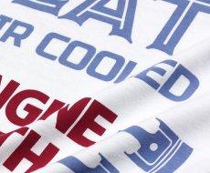 画像9: MVRX 半袖 Tシャツ FLAT6 モデル / 白 ホワイト 車 エンジン プリント (9)