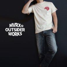 画像2: MVRX 半袖 Tシャツ SpeedSter モデル / 生成り ナチュラル バイク 車 プリント (2)
