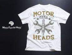 画像4: MVRX 半袖 Tシャツ MOTORHEADS モデル / 白 ホワイト バイク 車 プリント (4)