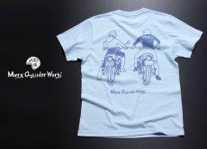 画像6: MVRX 半袖 Tシャツ DRIVE SAFE モデル / 水色 ライトブルー バイク プリント (6)
