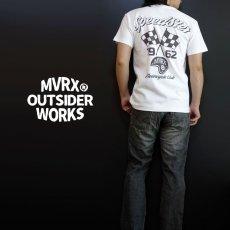 画像3: MVRX 半袖 ヘンリーネックTシャツ SpeedSter モデル / 白 バイク 車 プリント (3)