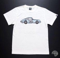 画像10: MVRX 半袖 Tシャツ FLAT6 モデル / 白 ホワイト 車 エンジン プリント (10)