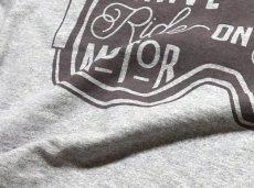 画像7: MVRX 半袖 ヘンリーネックTシャツ GOGGLE モデル / 杢グレー バイク ゴーグル プリント (7)