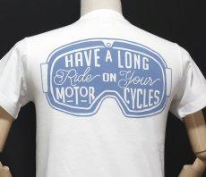画像8: MVRX 半袖 Tシャツ  GOGGLE モデル / 白 ホワイト バイク ゴーグル プリント (8)