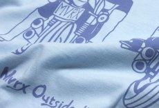 画像9: MVRX 半袖 Tシャツ DRIVE SAFE モデル / 水色 ライトブルー バイク プリント (9)