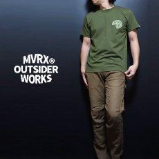 画像2: MVRX 半袖 Tシャツ SpeedSter モデル / アーミーグリーン バイクプリント (2)