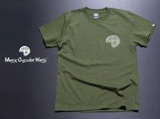 画像4: MVRX 半袖 Tシャツ SpeedSter モデル / アーミーグリーン バイクプリント (4)