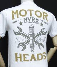 画像7: MVRX 半袖 Tシャツ MOTORHEADS モデル / 白 ホワイト バイク 車 プリント (7)