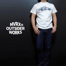 画像3: MVRX 半袖 Tシャツ FLAT6 モデル / 白 ホワイト 車 エンジン プリント (3)