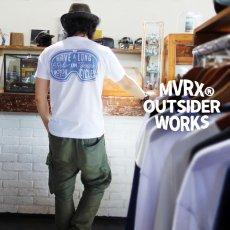画像9: MVRX 半袖 Tシャツ  GOGGLE モデル / 白 ホワイト バイク ゴーグル プリント (9)