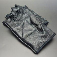画像6: 手袋 指なし レザー ハーフフィンガー フィンガーレス グローブ 本革 ROTHCO ブランド / ブラック 黒 (6)