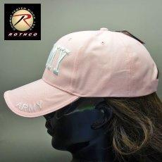 画像3: ARMY ロゴ ベースボールキャップ 帽子 メンズ レディース ROTHCO ロスコ ブランド 新品 ピンク (3)