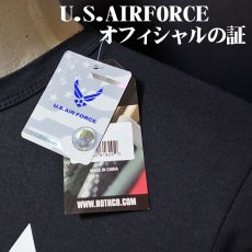 画像3: ミリタリー Tシャツ U.S.AIRFORCE エアフォース オフィシャル ROTHCO ロスコ 社 新品 ブラック 黒 (3)