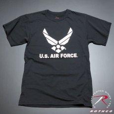 画像2: ミリタリー Tシャツ U.S.AIRFORCE エアフォース オフィシャル ROTHCO ロスコ 社 新品 ブラック 黒 (2)