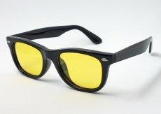 画像3: 偏光 レンズ サングラス UVカット スクエア セル イエローレンズ / ブラック (3)