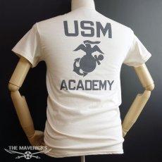 画像8: THE MAVERICKS ミリタリー Tシャツ USMA マリンアカデミー モデル / 生成り ナチュラル (8)