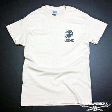 画像4: THE MAVERICKS ミリタリー Tシャツ USMA マリンアカデミー モデル / 生成り ナチュラル (4)