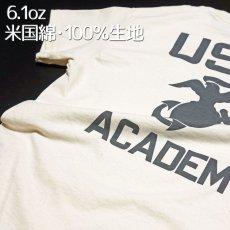 画像6: THE MAVERICKS ミリタリー Tシャツ USMA マリンアカデミー モデル / 生成り ナチュラル (6)