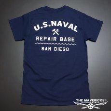 画像5: THE MAVERICKS ミリタリー Tシャツ 米海軍 REPAIR BASE モデル / ネイビー NAVY (5)