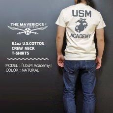 画像2: THE MAVERICKS ミリタリー Tシャツ USMA マリンアカデミー モデル / 生成り ナチュラル (2)