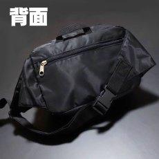 画像2: ウェストバッグ ヒップバッグ メンズ MA-1 タイプ ミリタリー ナイロン 新品 ブラック 黒 (2)