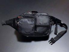 画像3: ウェストバッグ ヒップバッグ メンズ MA-1 タイプ ミリタリー ナイロン 新品 ブラック 黒 (3)