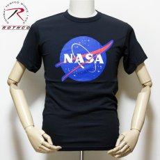 画像2: NASA Tシャツ メンズ 半袖 ミリタリー ROTHCO アメリカ航空宇宙局 ブラック 黒 (2)