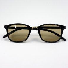 画像5: 送料無料 セル&メタル ボストン型 ブラック 黒 サングラス 新品 / ブラウンレンズ (5)