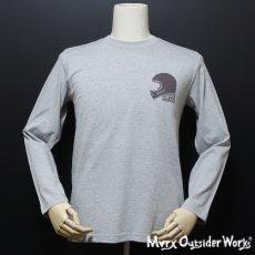 画像2: MVRX 長袖 ロングスリーブ Tシャツ GOGGLE モデル 杢グレー (2)