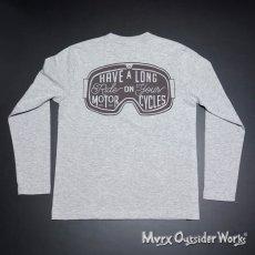 画像7: MVRX 長袖 ロングスリーブ Tシャツ GOGGLE モデル 杢グレー (7)