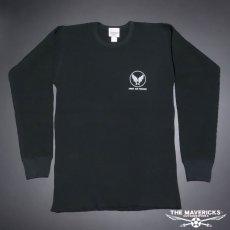 画像6: ミリタリー サーマル 長袖 Tシャツ ワッフル 生地 メンズ 爆弾エアフォース MAVEVICKS ブランド 黒 ブラック (6)