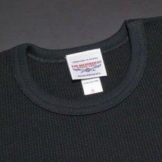 画像5: ミリタリー サーマル 長袖 Tシャツ ワッフル 生地 メンズ 爆弾エアフォース MAVEVICKS ブランド 黒 ブラック (5)