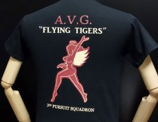 画像5: ミリタリー Tシャツ メンズ 半袖 AVG第三戦隊 THE MAVERICKS ブランド / ブラック 黒 (5)