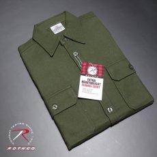画像5: ヘビーウェイト フランネル シャツ 長袖 メンズ ネルシャツ 綿 ROTHCO ロスコ ブランド オリーブドラブ (5)