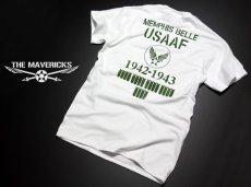 画像5: Tシャツ ミリタリー 半袖  爆弾エアフォース メンフィスベル ロゴT / ホワイト 白 (5)